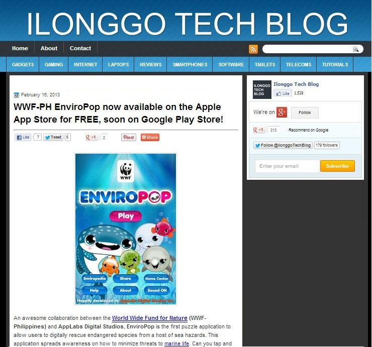 ilonggo tech features EnviroPop